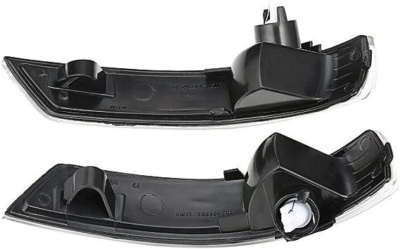 Indicador de Espejo Retrovisor de ala Lateral 2x Luz LED Din/ámica de Se/ñal de giro luz Intermitente para Focus 2 3 Mk2 Mk3 Mondeo Mk4