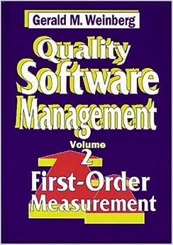 Quality Software Management: First-Order Measurement Ebook Rar