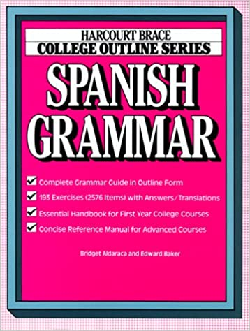 Amazon com: College Outline: Spanish Grammar (Books for