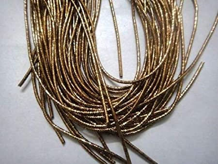 Vintage Gold Work Embroidery Thread-Light Silver Rough Purl French