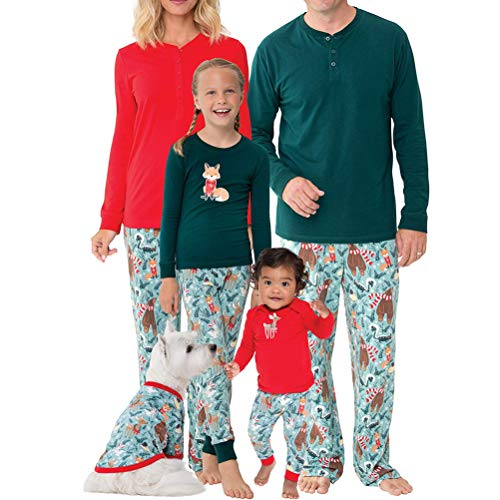 Mama Modello Animale Indumenti Outfits Zhhlaixing Stampato di Papà Set per Due Notte Pigiama Matching da Famiglie Mamma Pezzi Bambini Homewear xzHSwx