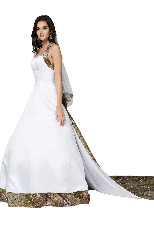 Milano Bride Special Camo Wedding Dress Halter Ball Gown