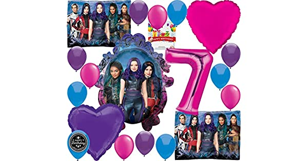 Amazon.com: Descendants 3 Party Supplies Globo de cumpleaños ...