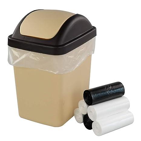 Annkky Pequeña Cubos de Basura 9.5 litros, Papelera Plástico ...