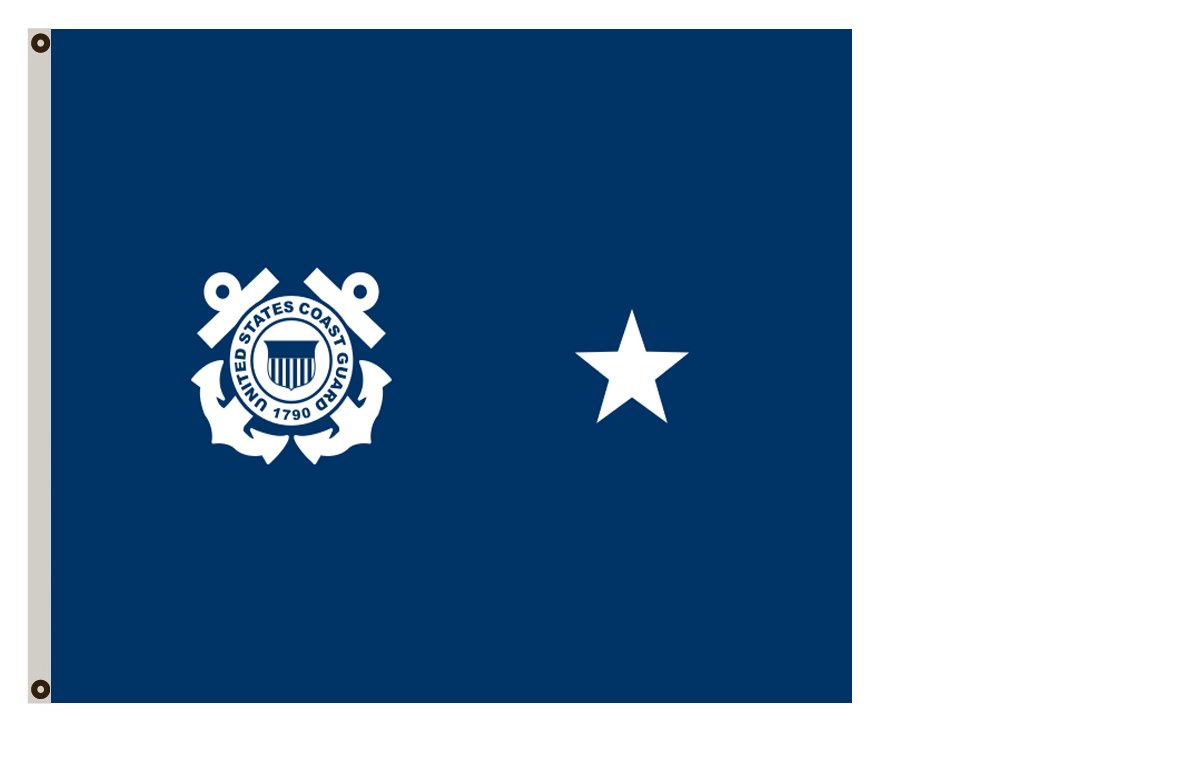 Fyon Uniformed Services Banner a Coast Guard Rear Admiral (Lower Half) Flag 8x12inch