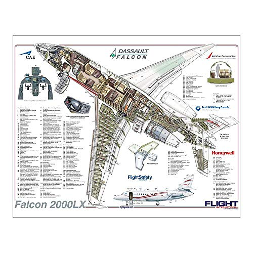 Media Storehouse 10x8 Print of Dassault Falcon 2000LX Cutaway Poster (4518502)