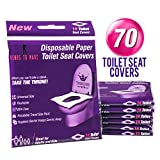 Venus To Mars Disposable Toilet Seat Covers – 70 Flushable Toilet Seat Covers for Kids, Toddlers and Adults for Use During Travel, Potty Training and Many More (7 Resealable Packs of 10): more info