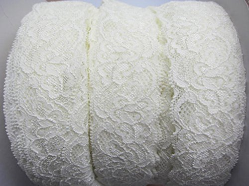 YYCRAFT Pack Of 10y Great Quality Elastic Lace 1.5