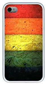 color line TPU White Case for iphone 4S/4