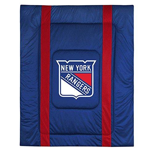 (Sports Coverage NHL New York Rangers King Bed Comforter Sidelines Hockey Team Logo)