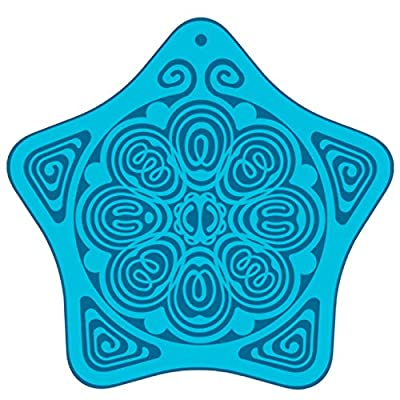 "EMF and Personal Boundary Antenna of Protection for Anxiety & Stress Relief - Powerforms Serenity Star Shield - Child 2"" dia"