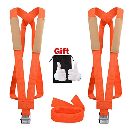 Length Shoulder Strap (GOOACC Moving Straps, 2 Person Lifting and Moving Strap Shoulder Harness Lifter Lifting Aid with Foam Pad 13Feet Lifting Straps Carry Bag Max Load 600 Pound)