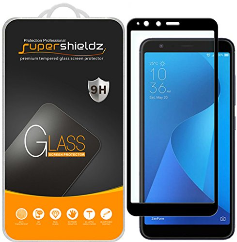 [2-Pack] Supershieldz for Asus ZenFone Max Plus (M1) ZB570TL Tempered Glass Screen Protector, [Full Screen Coverage] Anti-Scratch, Bubble Free, Lifetime Replacement Warranty (Black)