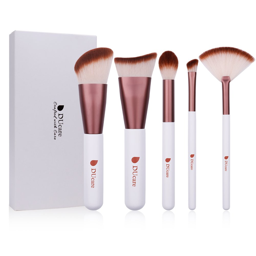 DUcare 1Pcs Contour Blush Brush Makeup Coesmetic Tools (1Pcs White Flat Top) Doremi Beauty US03