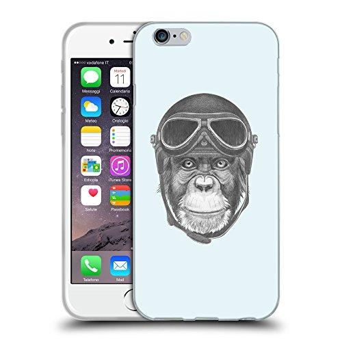 GoGoMobile Coque de Protection TPU Silicone Case pour // Q05290619 Pilote singe Bulles // Apple iPhone 7