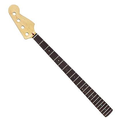 FLEOR - Cuello de guitarra eléctrica para piezas eléctricas de bajo de precisión, 22 trastes