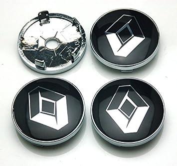 benzee 4pcs W246 negro 60 mm Coche Emblema Adhesivo Rueda Hub Caps centro para Renault Megane Clio Laguna Koleos: Amazon.es: Coche y moto