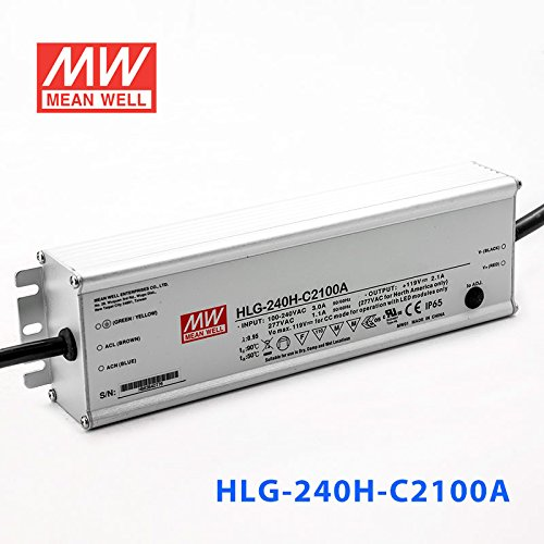 Meanwell HLG-240H-C2100A Power Supply - 249.9W 2100mA - IP65