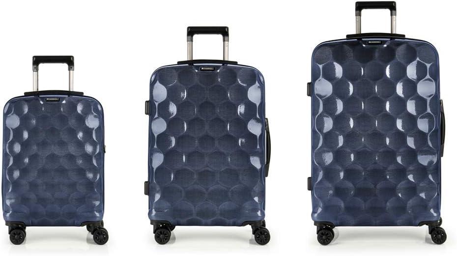 Gabol - Air | Set de Maletas de Viaje Rigidas de Color Azul con Maleta de Cabina, Trolley Mediano y Trolley Grande