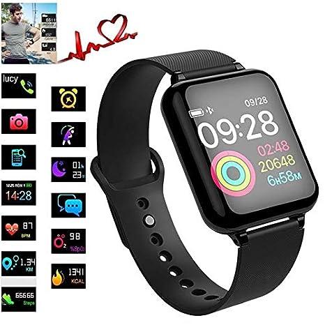 frgsdxjgtk B57 Pulsera Inteligente Actividad Fitness Tracker Ritmo cardíaco Presión Arterial Hombres Mujeres Reloj Inteligente: Amazon.es: Electrónica