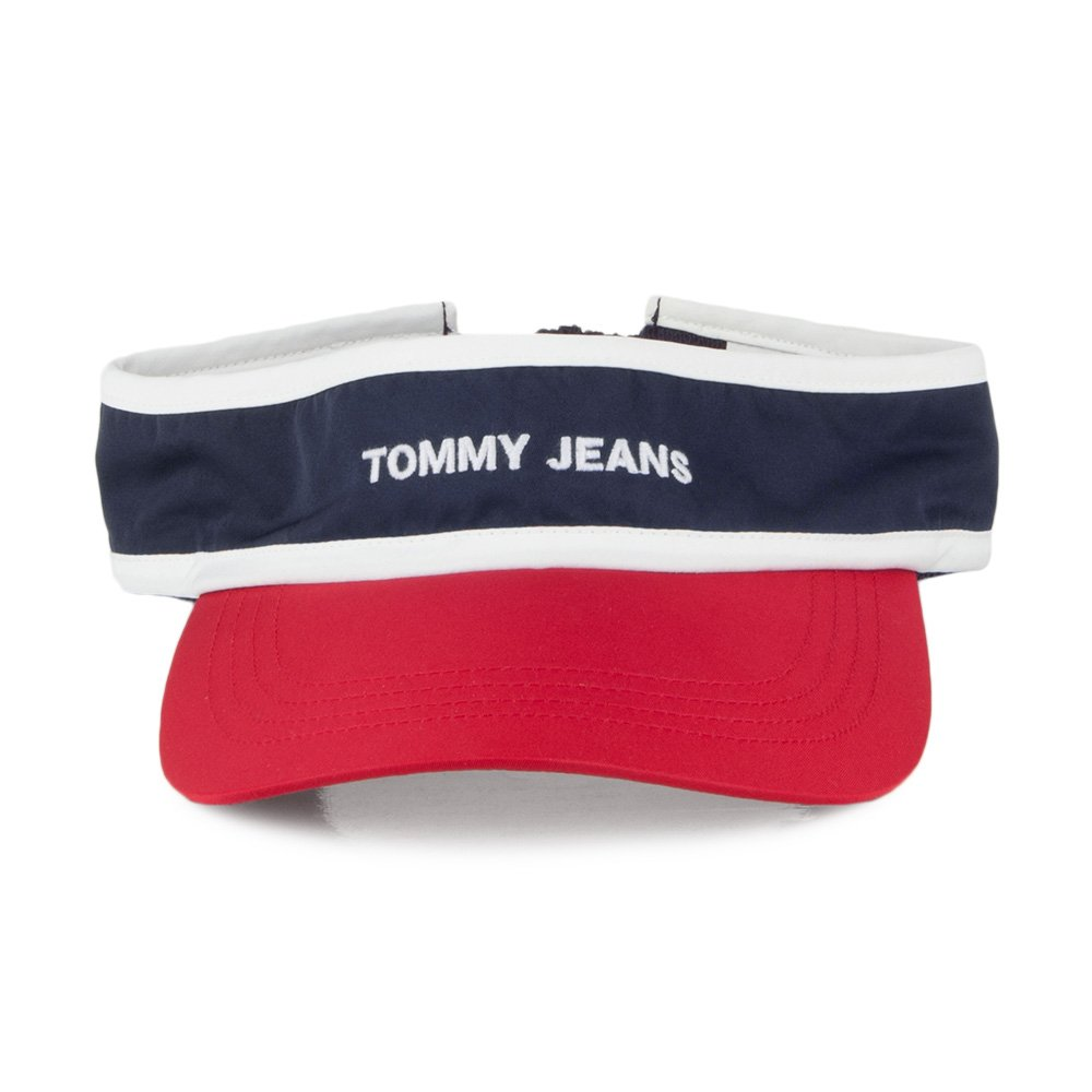 Tommy Hilfiger Hats TJU Logo Visor - Navy-Red Adjustable  Amazon.co.uk   Clothing 28d8019ee18