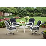 New - Better Homes and Gardens Azalea Ridge 5-Piece Patio Dining Set, White - Best Reviews Guide