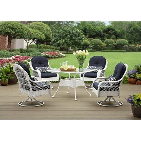 New - Better Homes and Gardens Azalea Ridge 5-Piece Patio Dining Set, White, Seats 4 - Quality. Only here.