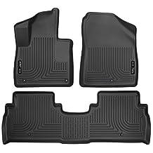 Husky Liners Weatherbeater Series 2016 Kia Sorento Front and Second Seat Floor Liner - (Black)