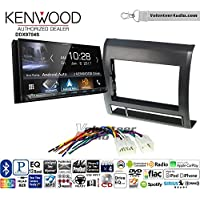 Volunteer Audio Kenwood DDX9704S Double Din Radio Install Kit with Apple Carplay Android Auto Fits 2005-2011 Non Amplified Toyota Tacoma (Black textured)