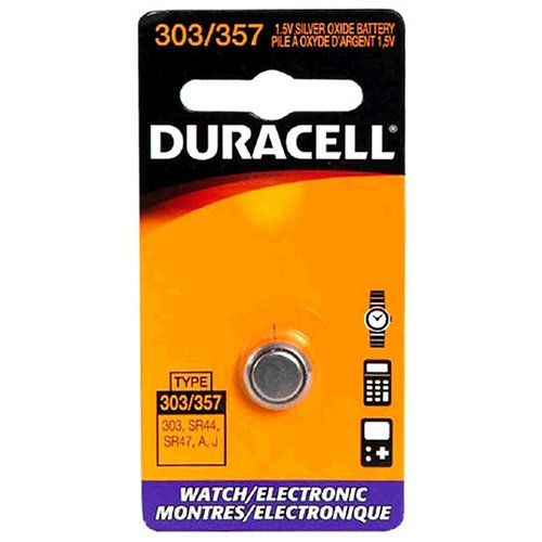 - Duracell DL303/357BPK Watch/Electronic Battery, Pocket Tray