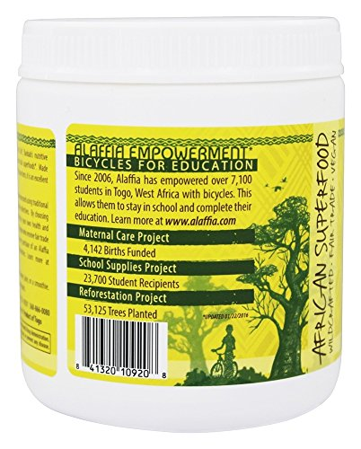Alaffia, Superfood Baobab Powder, 7 Ounce 3 Alaffia - Baobab Powder - 7 Oz. (198 G) Alaffia Baobab Powder Is Made Through Traditional Methods And Used In Its Raw Form And Is�an Excellent Source Of Vi