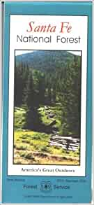Amazon Com Santa Fe National Forest Map Paper 9781593512088 Santa Fe National Forest Santa Fe National Forest Books