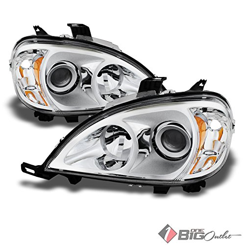 Projector Headlights Mercedes (Xtune For 1998-2005 Mercedes-Benz W163 ML-Class Projector Headlights LH+RH Assembly Pair L+R 1999 2000 2001 2002 2003 2004)