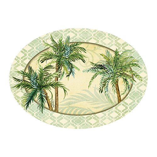 - Melamine Dinnerware Tray Serving Trays Antipasto Platter Fruit Cheese 9 inches x 16 inches Nautical Decor Beach Palms
