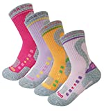 4Pack Women's ATB100Dry Cushion Performance/Hiking/Trail Micro Crew Socks Summer