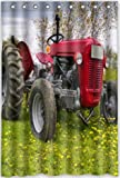 """48""""(w) x 72""""(h) old farm tractor antique Theme Print 100% Polyester Bathroom Shower Curtain Shower Rings Included"""