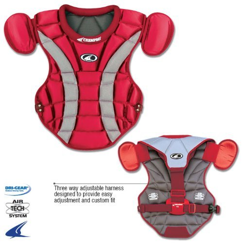 Champro Pro Plus Chest Protector (Scarlet, 17.5-Inch length) ()