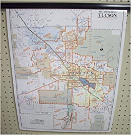Metropolitan Tucson Zip Code Arterial Collector Streets Desk Map