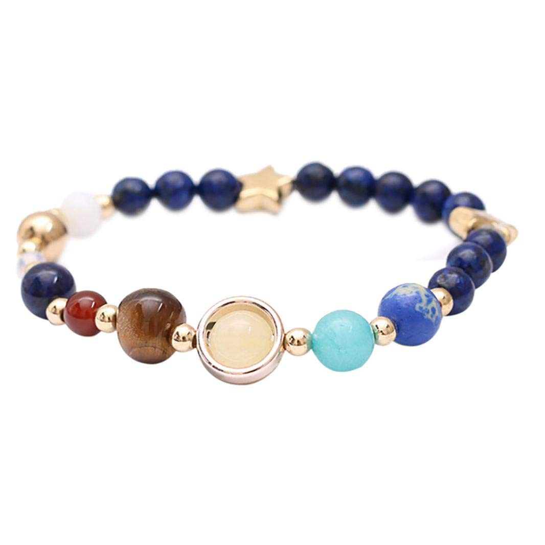 Strand Bracelets Galaxy Solar System Bracelet Guardian Star Universe Eight Planets Star Natural Stone Beads Bracelets Bangles For Women Men Gift Jewelry & Accessories