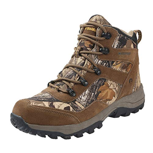 Northside Men's Dakota Waterproof Hiking Boot, Tan Camo, 12 D(M) US