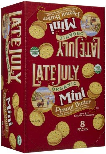 Late July Organic - Mini Organic Bite Size Sandwich Crackers Peanut Butter - 8 Pack(s), 1.125 oz