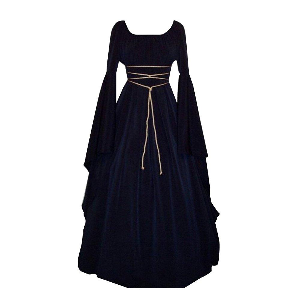 Pevor Women Renaissance Medieval Gothic Victorian Halloween Costume Cosplay Dress