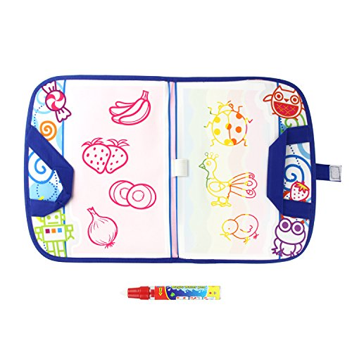 Coolplay Doodle Drawing Toys, Travel Magic Water Drawing Mats,Magic Pen Educational Toy for Children Toddlers Kids