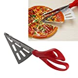 """Wrisky 2 in 1 Scissors Pizza Cutter Slicer Tool Cook Server Gadget Stainless Steel 10"""""""