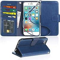 iPhone 6s/6 ケース 手帳型 スマホケース「ストラップ付き 横置き機能 カードポケット付き」アイフォーン 6/6s 適応用 Arae 財布型 カバー