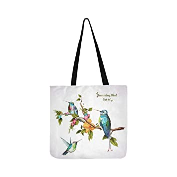 Sac Tote Bird Trois À Set Main Humming Birds Canvas mN8vwPyn0O