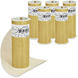 "Expo International TL2422GL-6 Glitter Tulle Spool (6 Pack), 6"" x 10 yd, Gold"