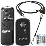 Neewer DSLR Camera Shutter Release 320ft/100m Wireless Remote Control 2.4G 16CH Transmitter Receiver for Canon G10/G11/G15/G12/G1X/SX50/700D/EOS/1200D/1100D