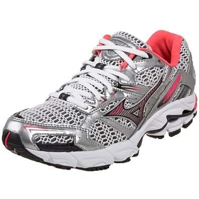 Mizuno Women's Wave Inspire 6 Running Shoe,White/Shocking Pink/Anthracite,10.5 B