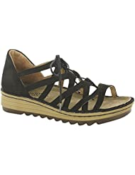 NAOT Womens Yarrow Anatomic Leather, Suede, Latex, Cork Sandals